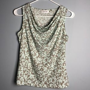 Very soft, comfortable sleeveless cowl neck top.